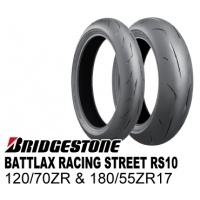 【前後セット】 BRIDGESTONE BATTLAX RACING STREET RS10 120/70ZR17 & 180/55ZR17