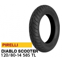 PIRELLI DIABLO SCOOTER F 120/80-14 58S 2590200 JAN 4580318972672