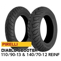PIRELLI DIABLO SCOOTER 110/90-13 & 140/70-12 REINF【前後セット】