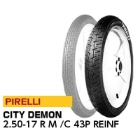 【前後セット】 NBS タイヤ 2.25-17 4PR T/T F & PIRELLI CITY DEMON 2.50-17 M/C 43P REIN JAN 4580318991857