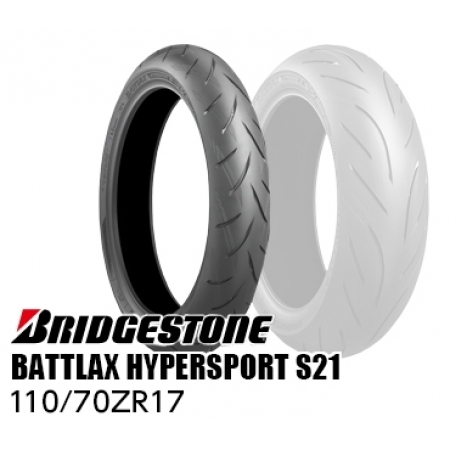 BRIDGESTONE BATTLAX HYPERSPORT S21 110/70ZR17 M/C (54W) TL  MCR05182